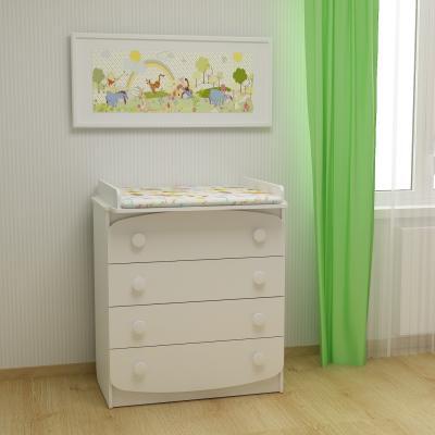 Комод пеленальный ФА-Мебель Улыбка белый