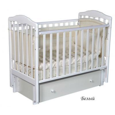 Детская кроватка Кедр Helen 3 (Белый)